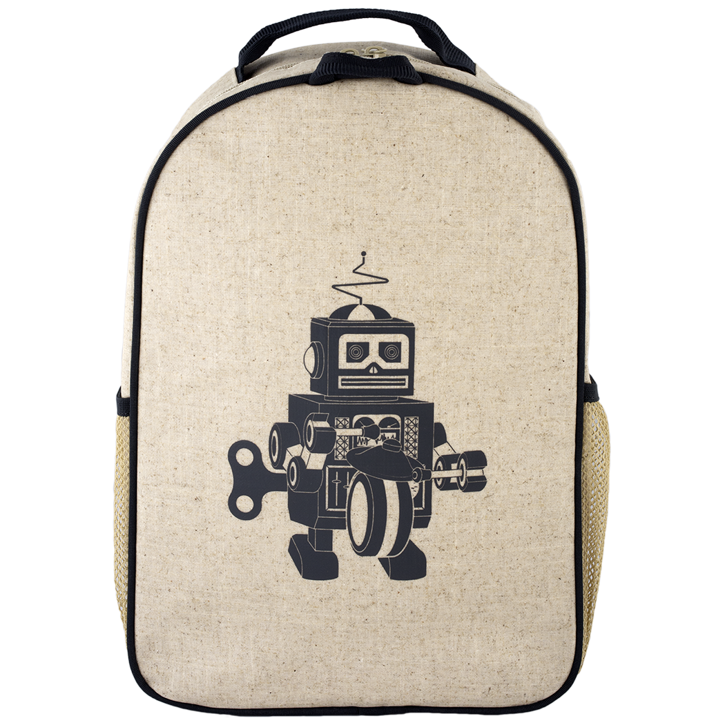 So Young Large Backpack - Grey Robot