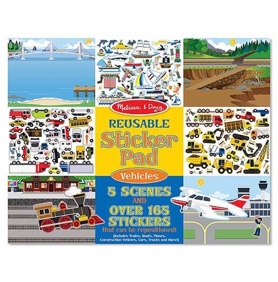 MD 4199 REUSABLE STICKER PAD - VEHICLES