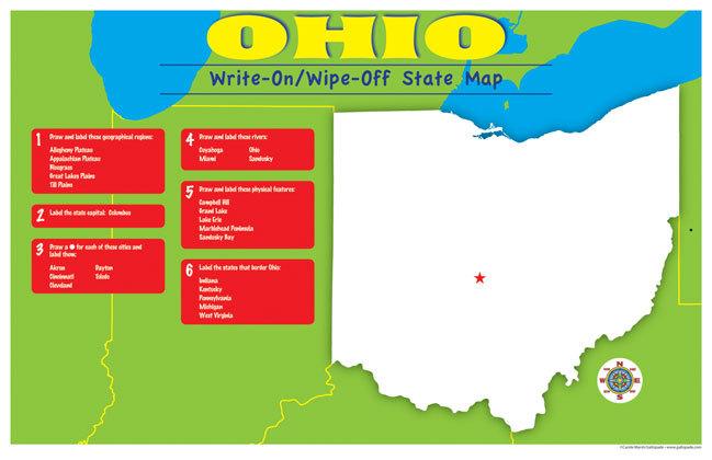 GA OHMWEA OHIO WIPEOFF DESK MAP