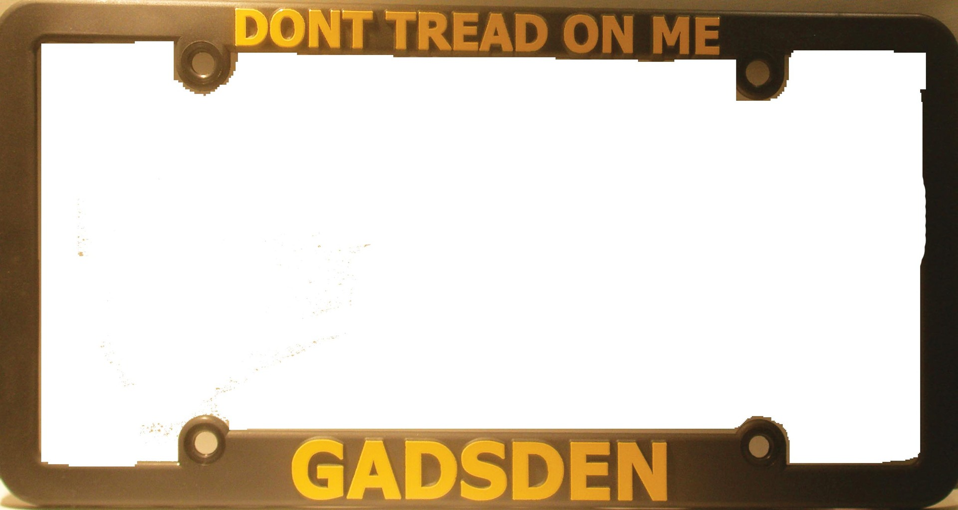 dont tread on me gadsden plastic license plate frame - Don T Tread On Me License Plate Frame
