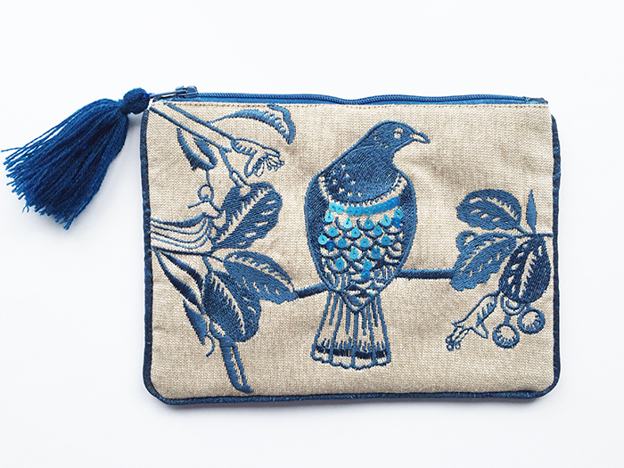 Pouch Navy Woodpigeon