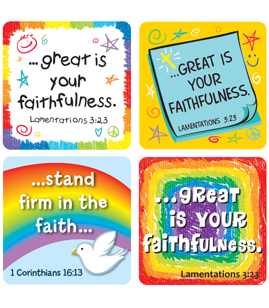 CD 168169 FAITH VERSES SCRIPTURE STICKERS