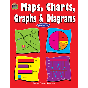 TCR 0169 MAPS, CHARTS, GRAPHS, AND DIAGRAMS GRADES 3-6