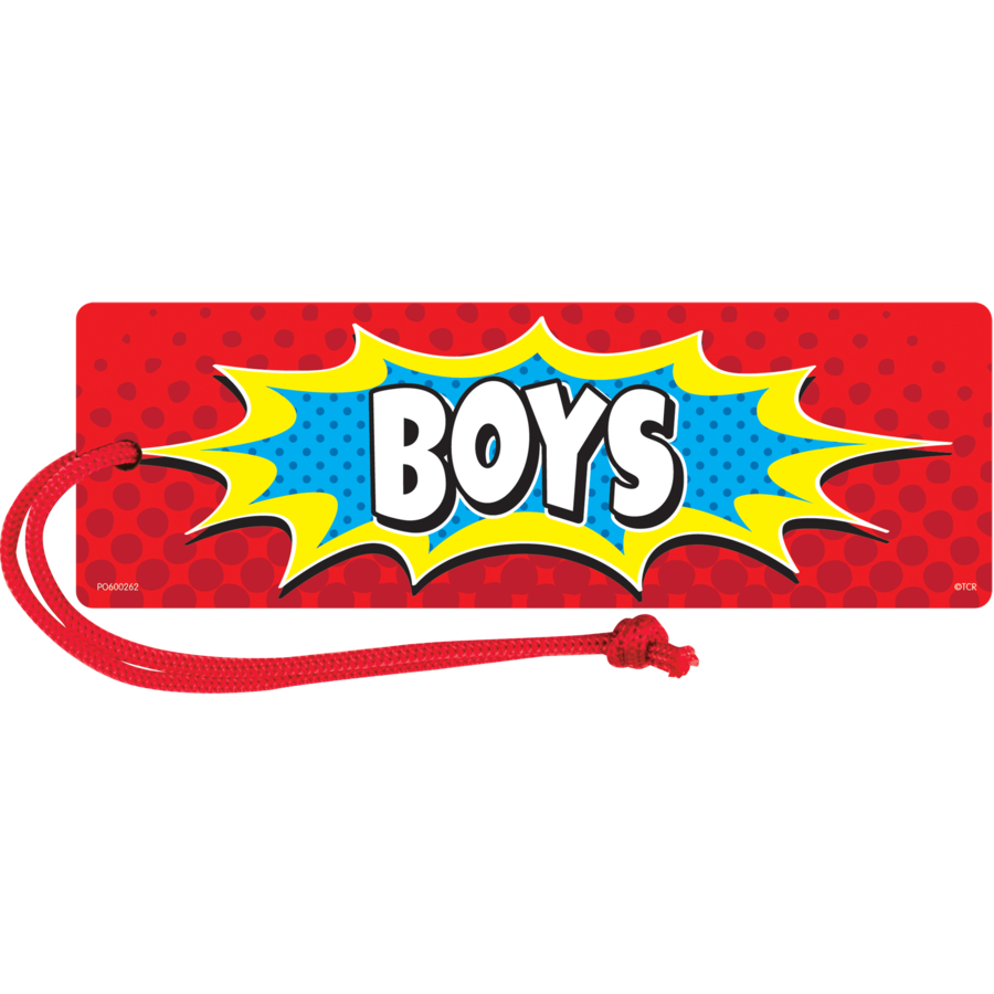 TCR 77275 SUPERHERO MAGNETIC BOYS PASS