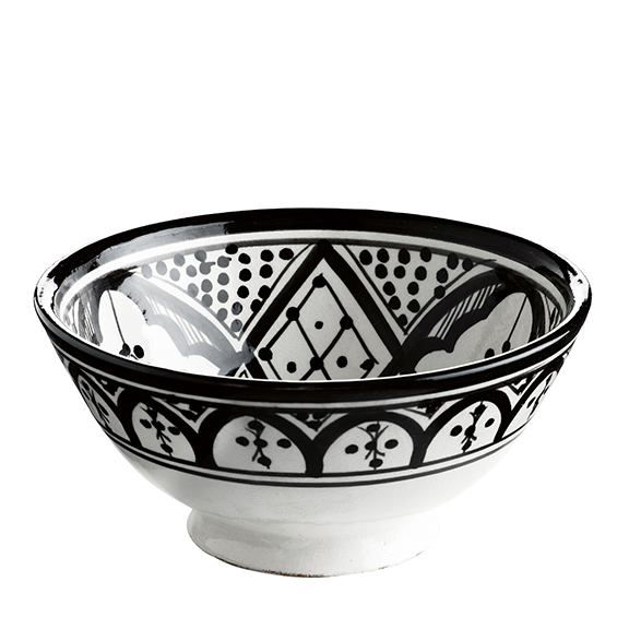 BOWL CERAMIC BLACK PATTERN