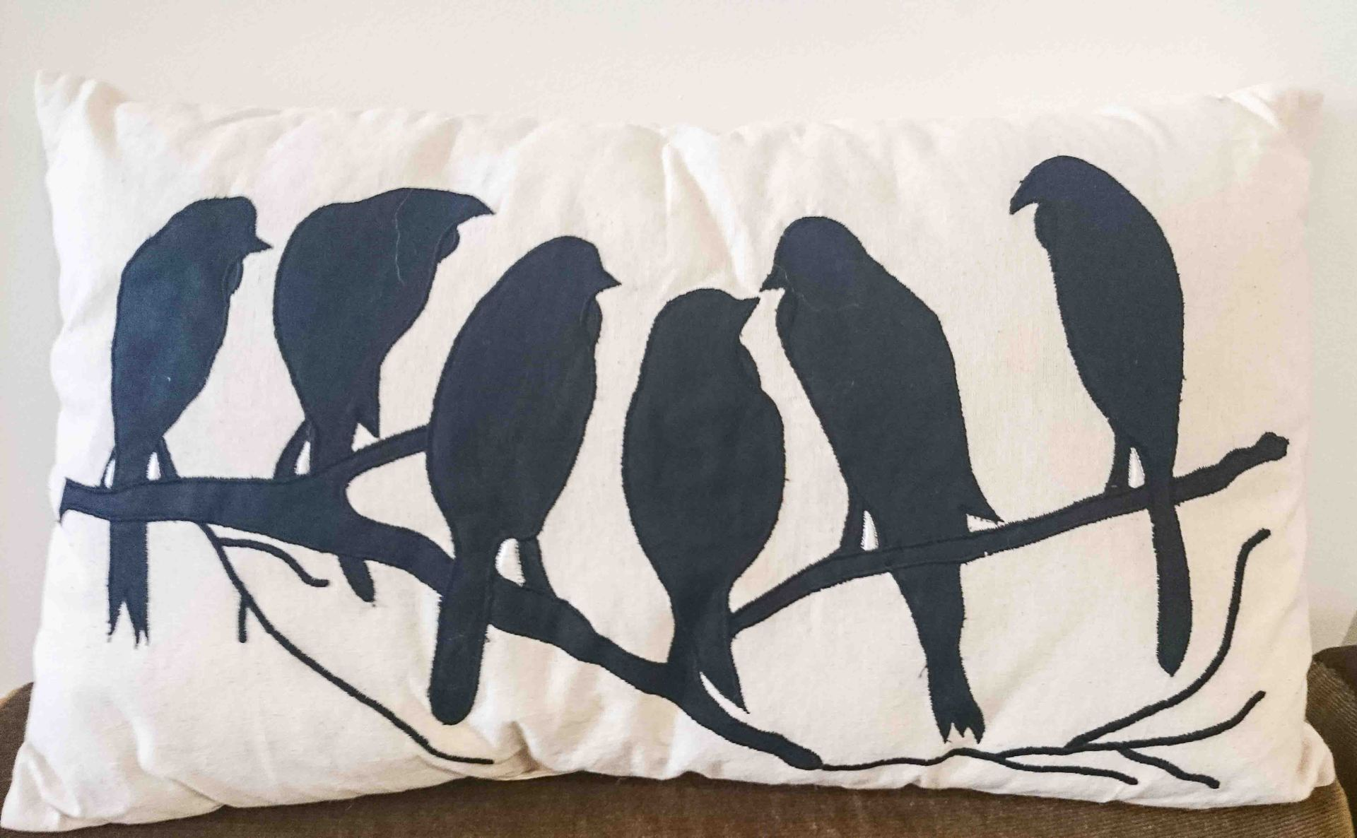 Cushion Birds Purched on Branch