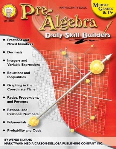 CD 404086 PRE-ALGEBRA SKILL BUILDERS