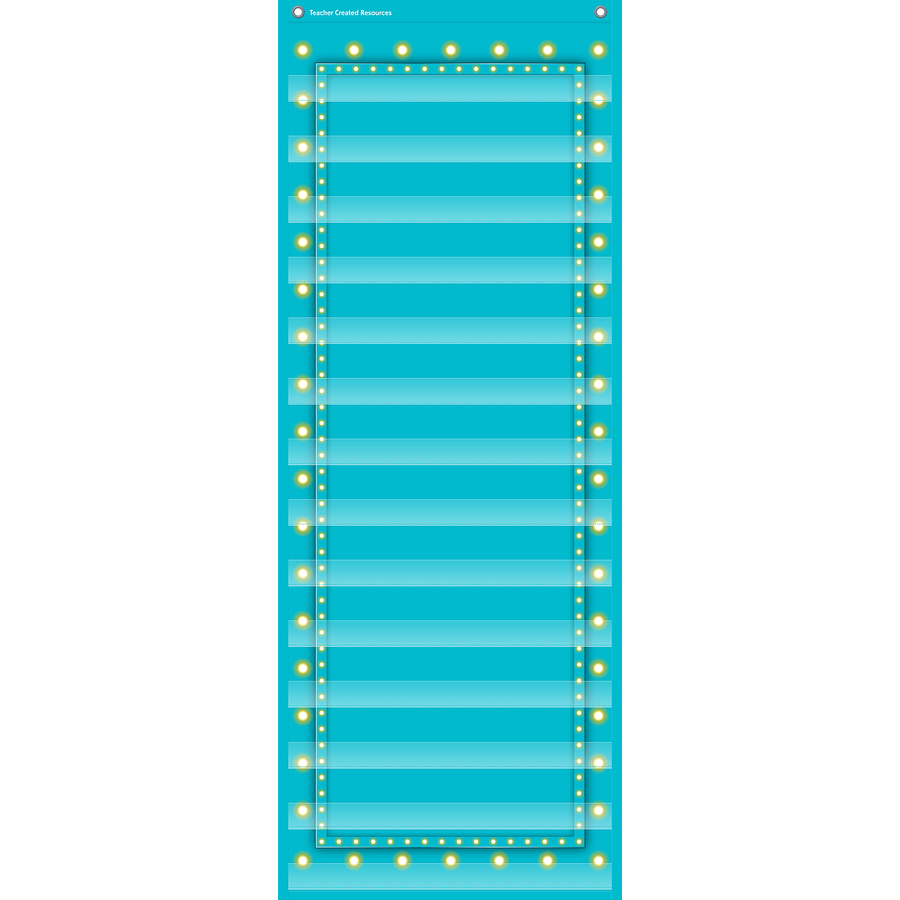 TCR 20773 14 POCK POCKET CHART LT. BLUE MARQUEE