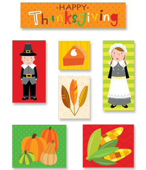 CTP 4045 THANKSGIVING FUN STICKERS