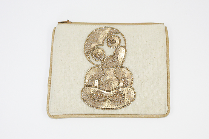 Gold Tiki Coin Purse