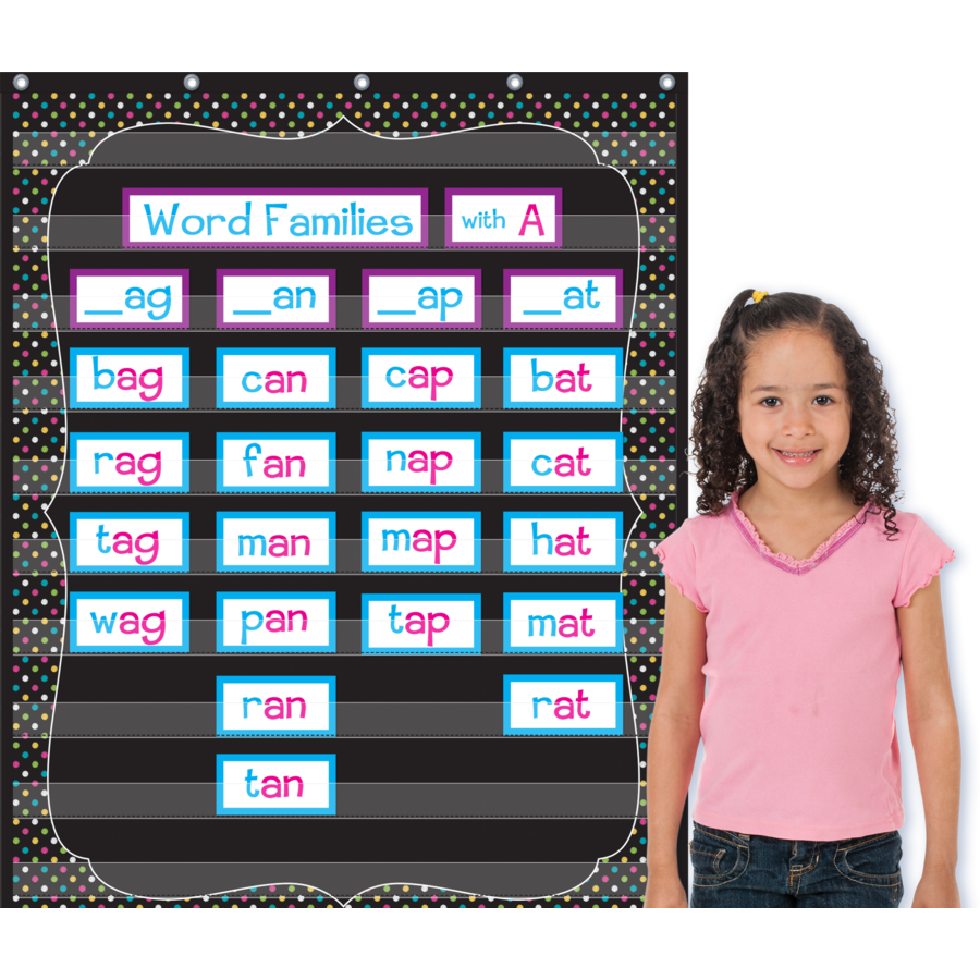 TCR 20746 CHALKBOARD BRIGHTS POCKET CHART