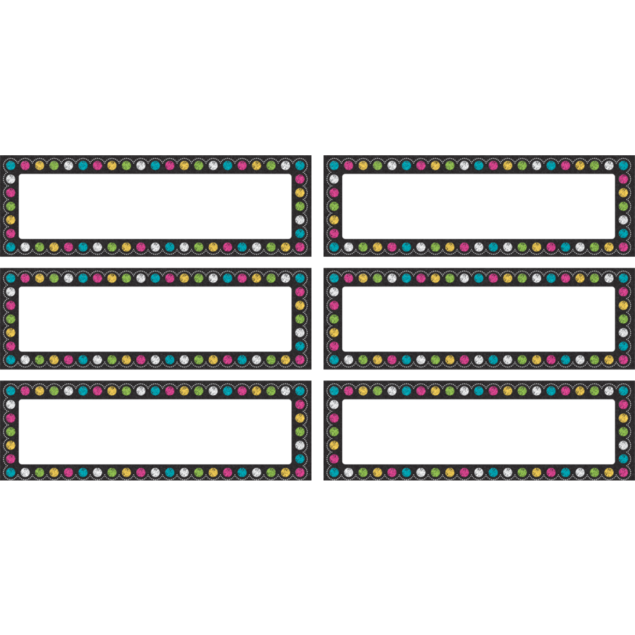 TCR 77299 CHALKBOARD BRIGHTS LABELS MAGNETIC