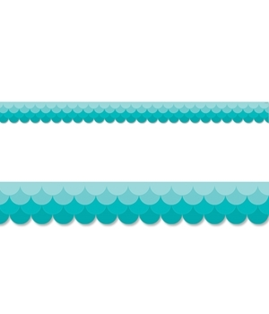 CTP 0182 PAINTED PALETTE OMBRE TURQUOISE SCALLOPS BORDER
