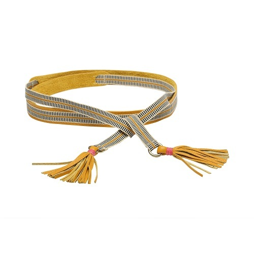 Parker Leather Belt - Mustard