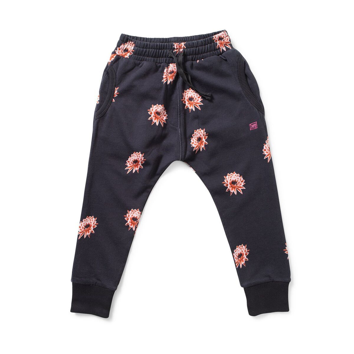 TWEED Flower Print Track Pant