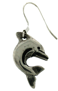 Earring pewter dolphin x 2