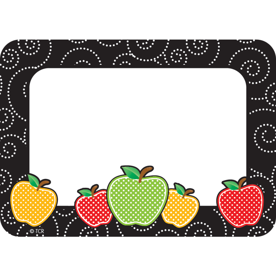 TCR 2143 DOTTY APPLE NAMETAGS