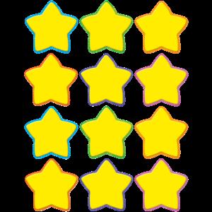 TCR 5130 YELLOW STARS MINI CUTOUTS