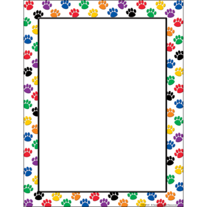 TCR 4769 COLORFUL PAW PRINTS COMPUTER PAPER