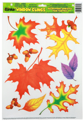 EU 836550 FALL LEAVES WINDOW CLINGS