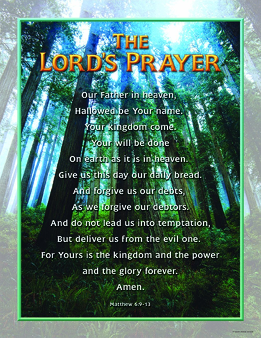 CD 6328 THE LORDS PRAYER POSTER