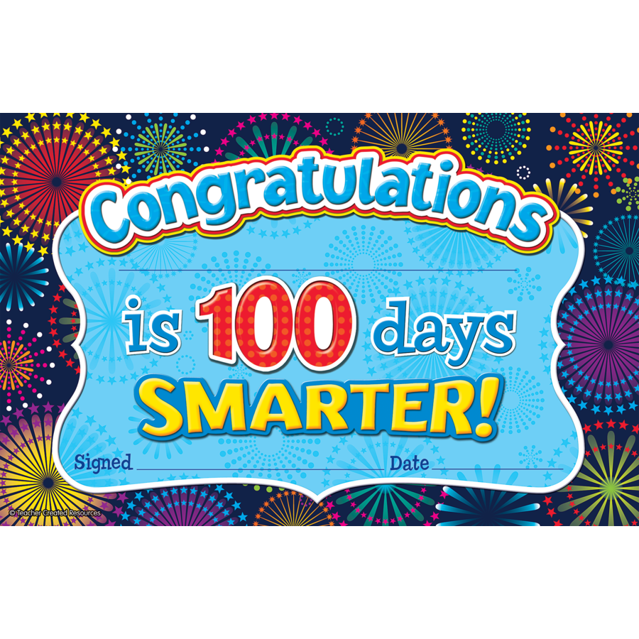 TCR 5425 CONGRATULATIONS 100 DAY AWARD