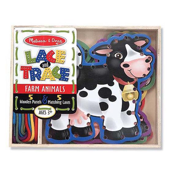 MD 3781 FARM ANIMALS LACE & TRACE