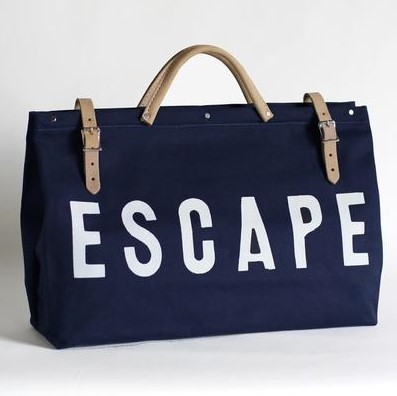 ESCAPE Canvas Utility Bag - Navy Blue
