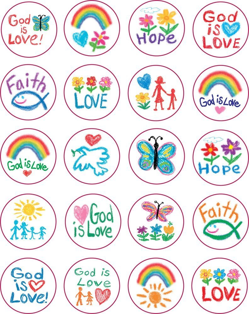 CD 5239 FAITH: KID-DRAWN STICKERS