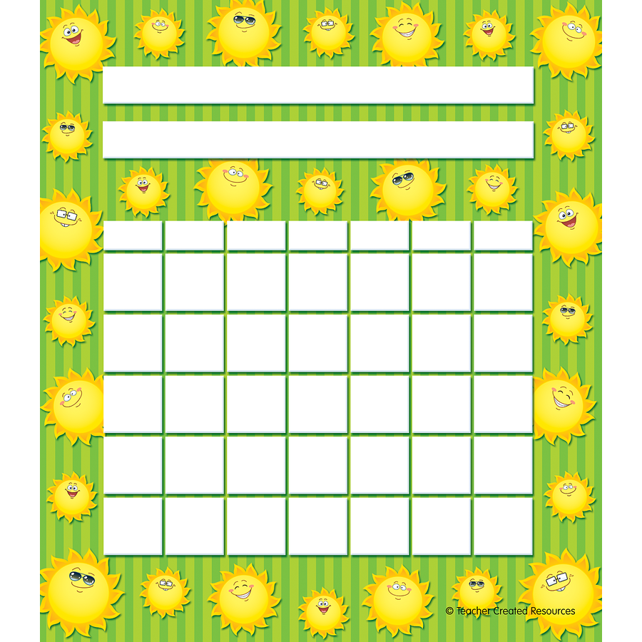TCR 5448 HAPPY SUNS INCENTIVE CHART
