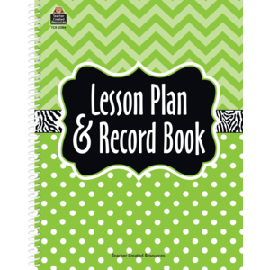 TCR 2384 LESSON PLAND AND RECORD BOOK LIME