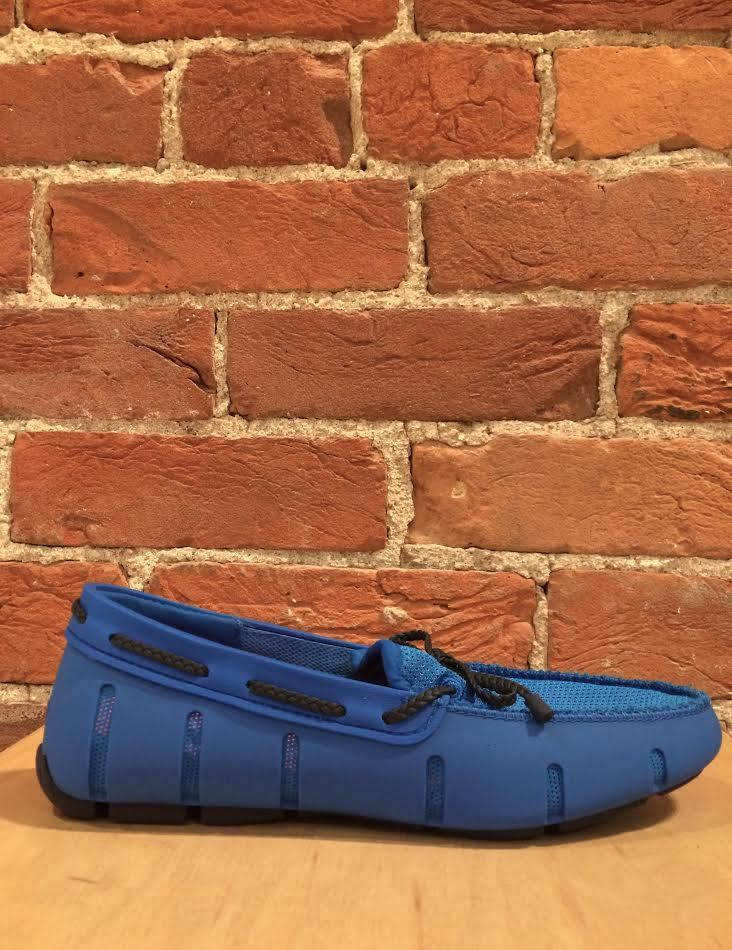 SWIMS - BRAIDED LACE LOAFER IN BLITZ BLUE/NAVY