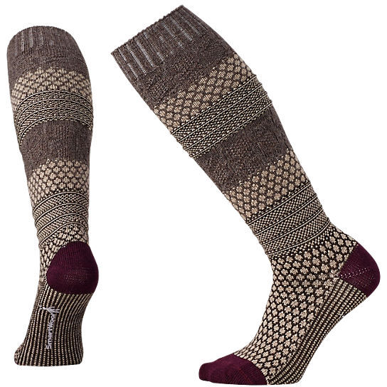 SMARTWOOL - POPCORN CABLE KNEE HIGH OATMEAL HEATHER
