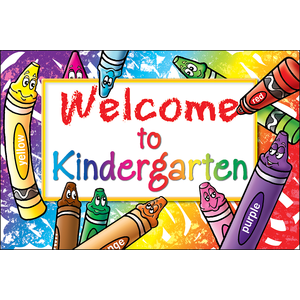 TCR 4860 WELCOME TO KINDERGARTEN POSTCARDS
