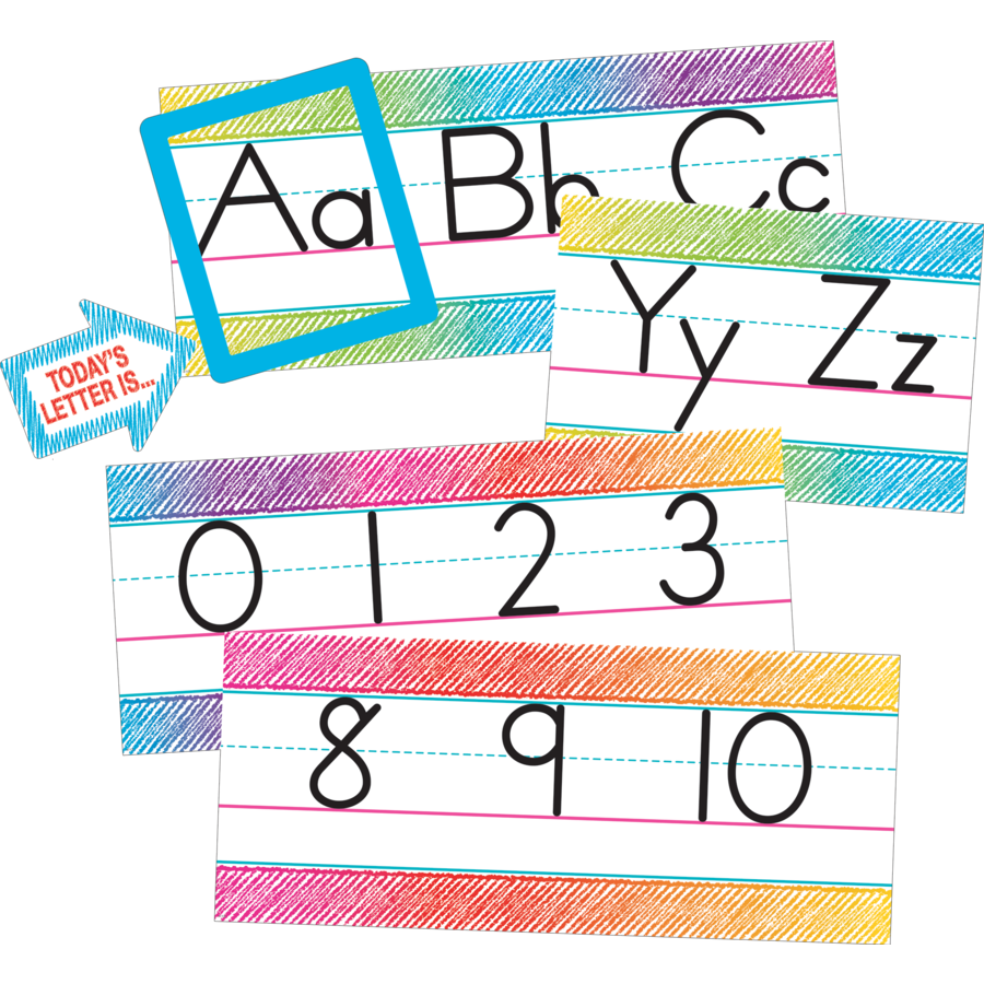 TCR 3052 COLORFUL SCRIBBLE ALPHABET BBS