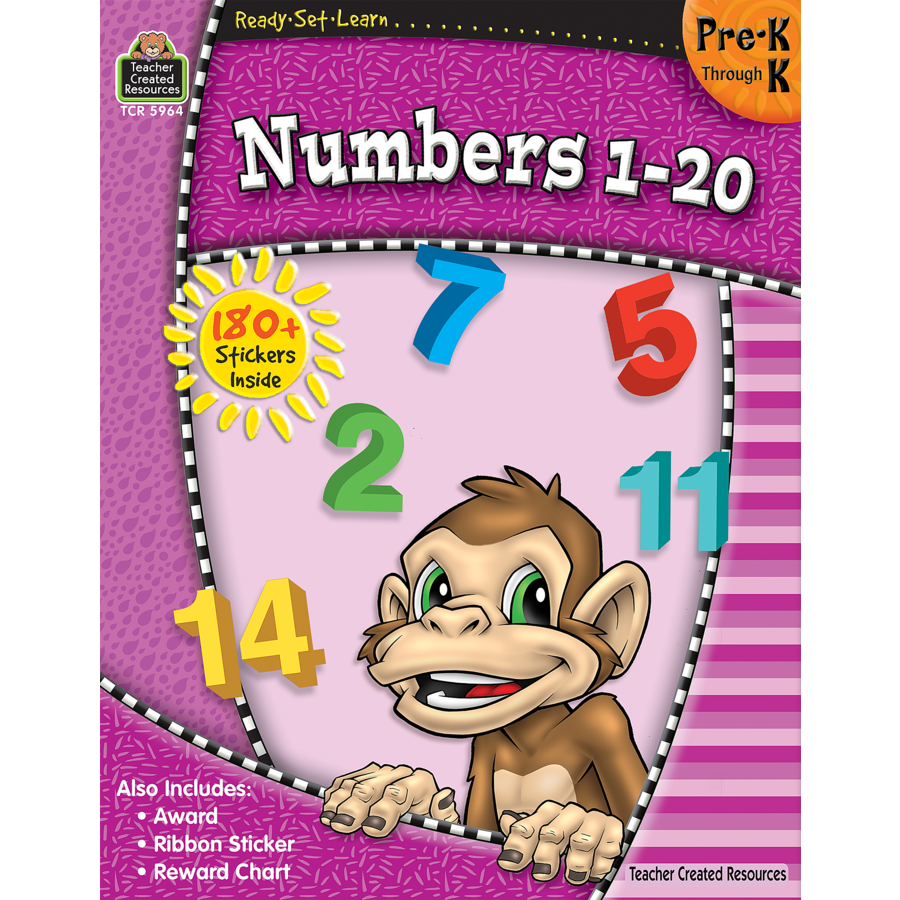 TCR 5964 READY-SET-LEARN NUMBERS 1-20 PRE K-K