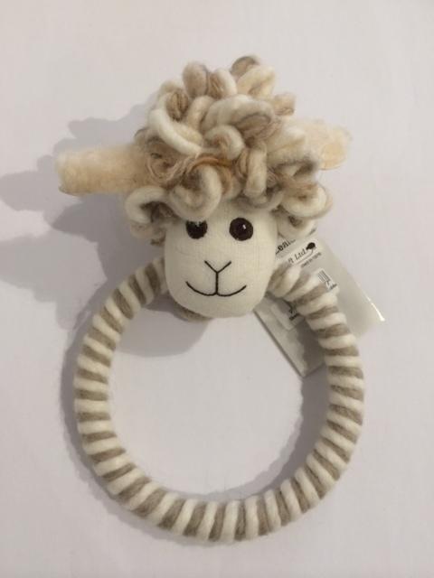 Sheepy wool towel holder