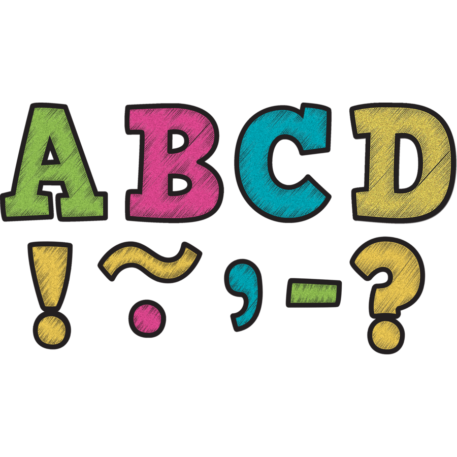 TCR 77212 CHALKBOARD BRIGHTS BOLD BLOCK MAGNETIC LETTERS 3
