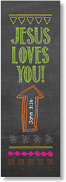 NS 2115 JESUS LOVES YOU BOOKMARKS