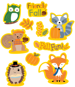 CTP 4044 WOODLAND FRIENDS FALL STICKERS