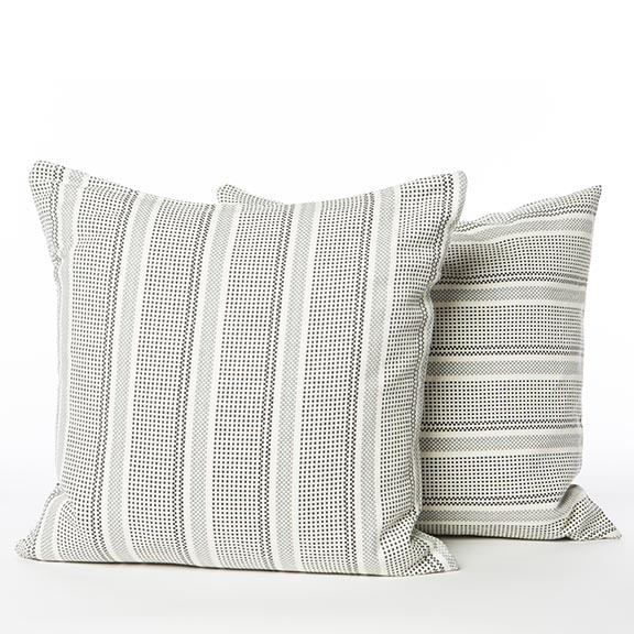 WOVEN GREY CUSHION COVER