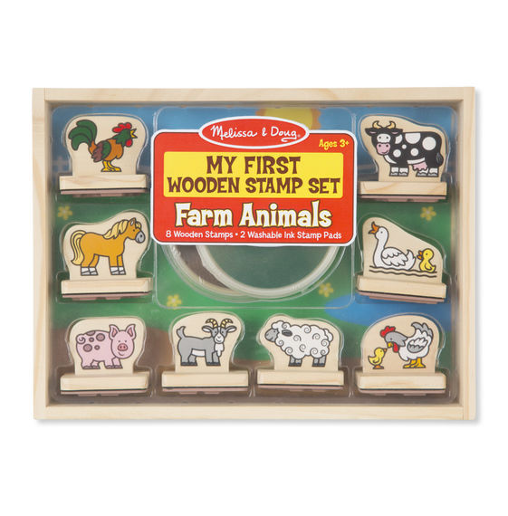 MD 2390 MY FIRST WOODEN STAMP SET FARM