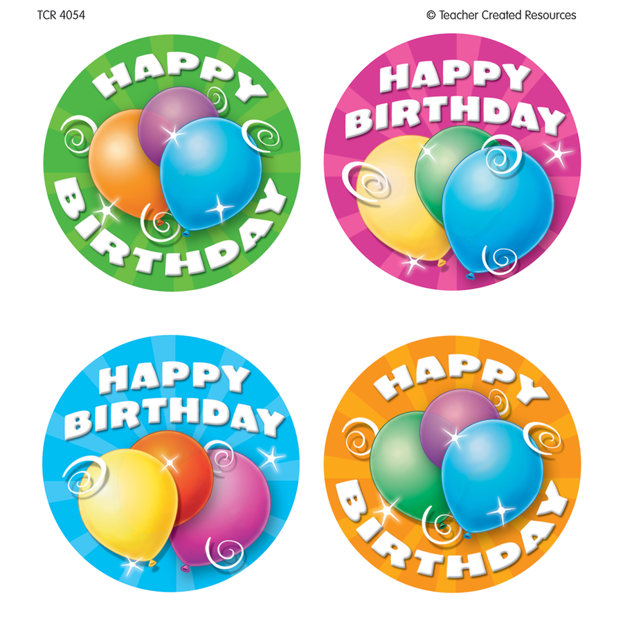 TCR 4054 WEAR 'EM BADGES BIRTHDAY