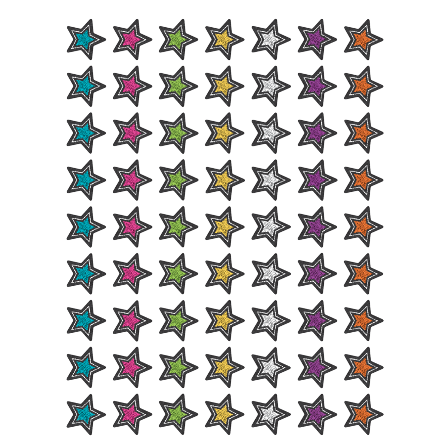 TCR 3556 CHALKBOARD BRIGHTS STAR MINI INCENTIVE STICKERS