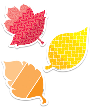 CTP 8078 PAINT PALLETE FALL LEAVES MINI CUTOUTS