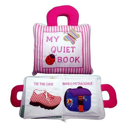 My Quiet Soft PLay Book Pink Stripes