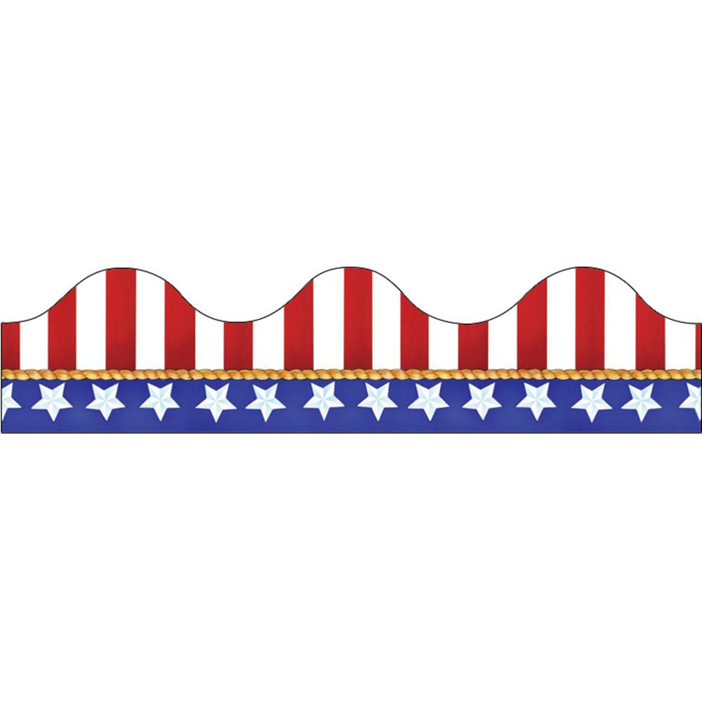 EU 845031 AMERICAN FLAGS ELECTORAL DECO TRIM