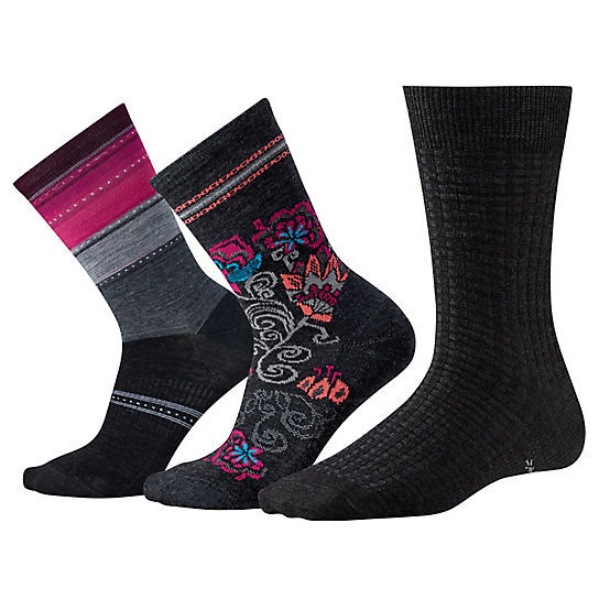 SMARTWOOL - TRIO 2 THREE PACK CHARCOAL HEATHER