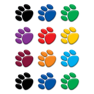 TCR 5116 VARIETY PAW PRINTS MINI CUTOUTS
