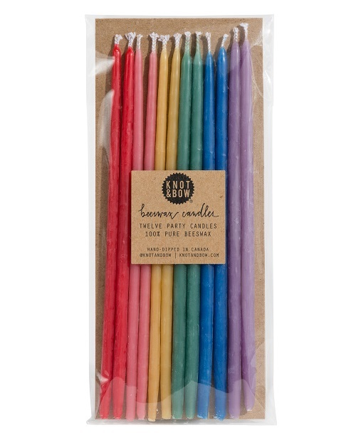 Rainbow Candles - 6 inch